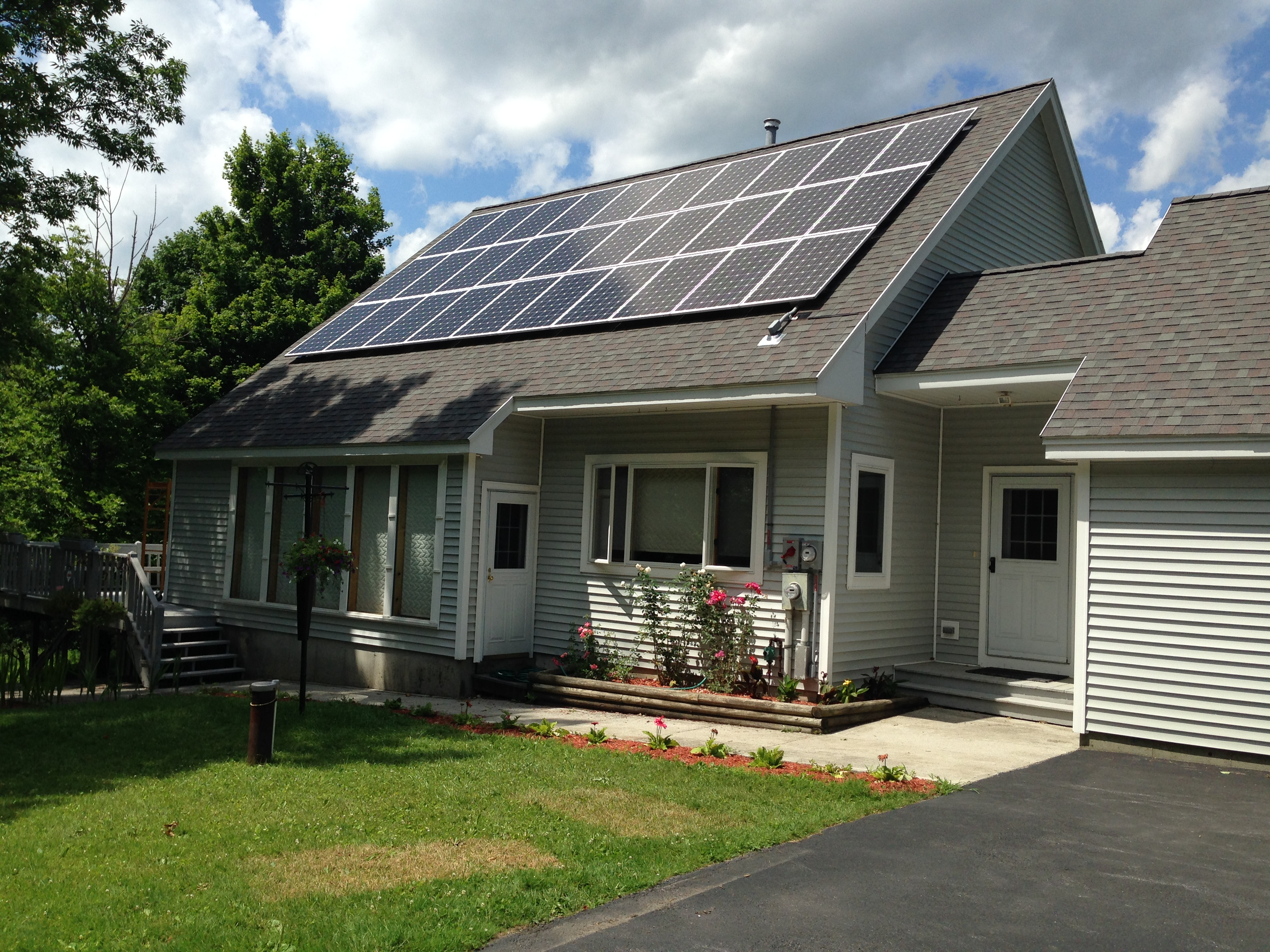 Rooftop solar array in Bennington Vermont