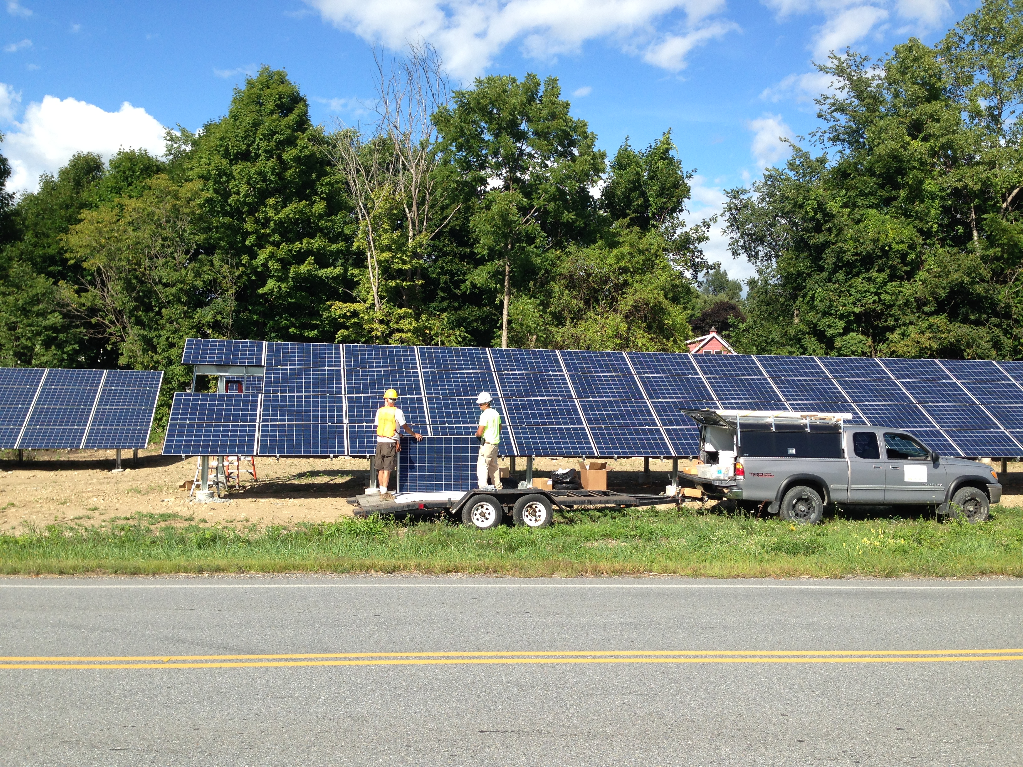 Community solar farm in North Bennington VT