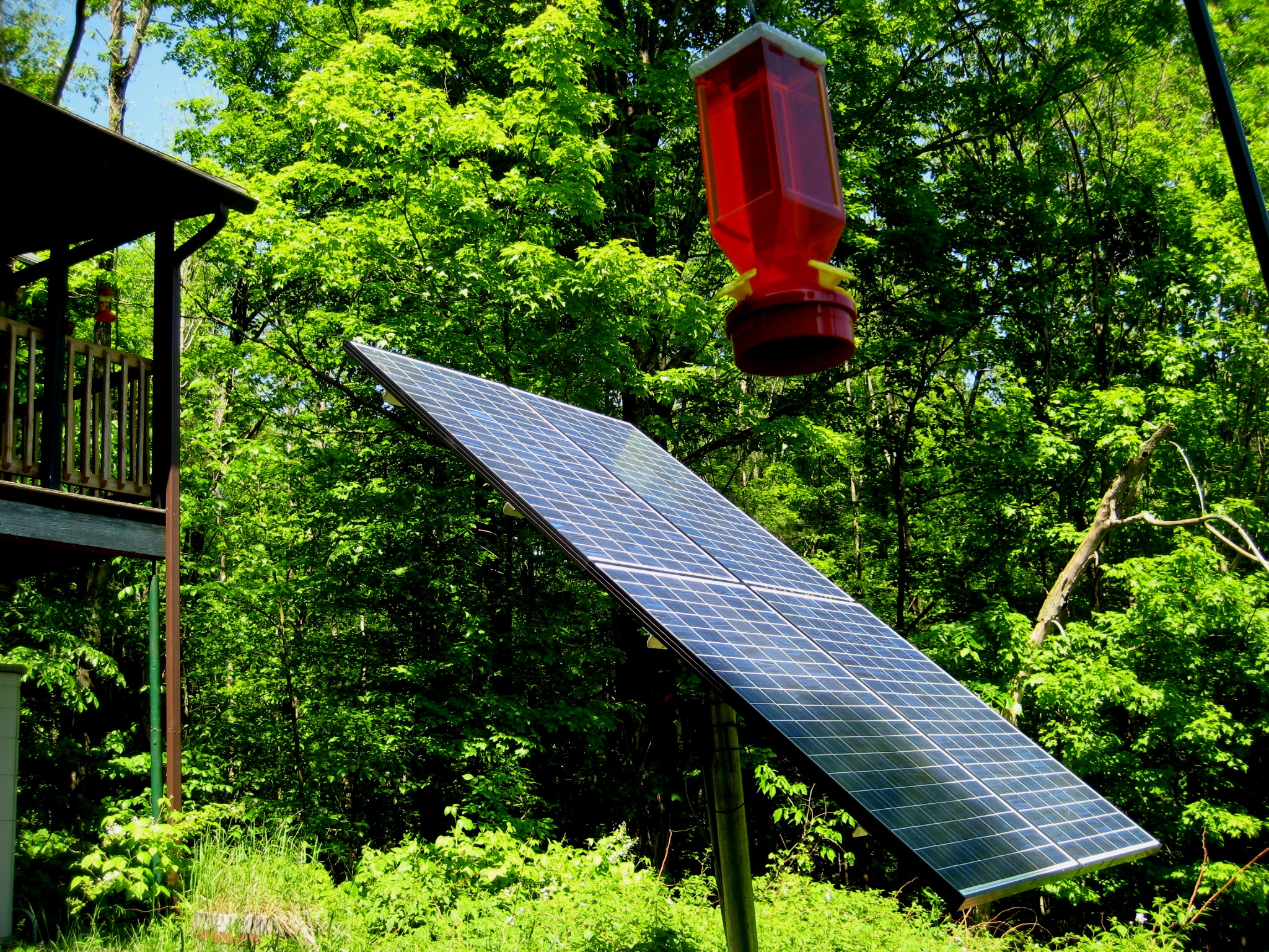 Off-grid solar electric system with batteries in Greenwich New York