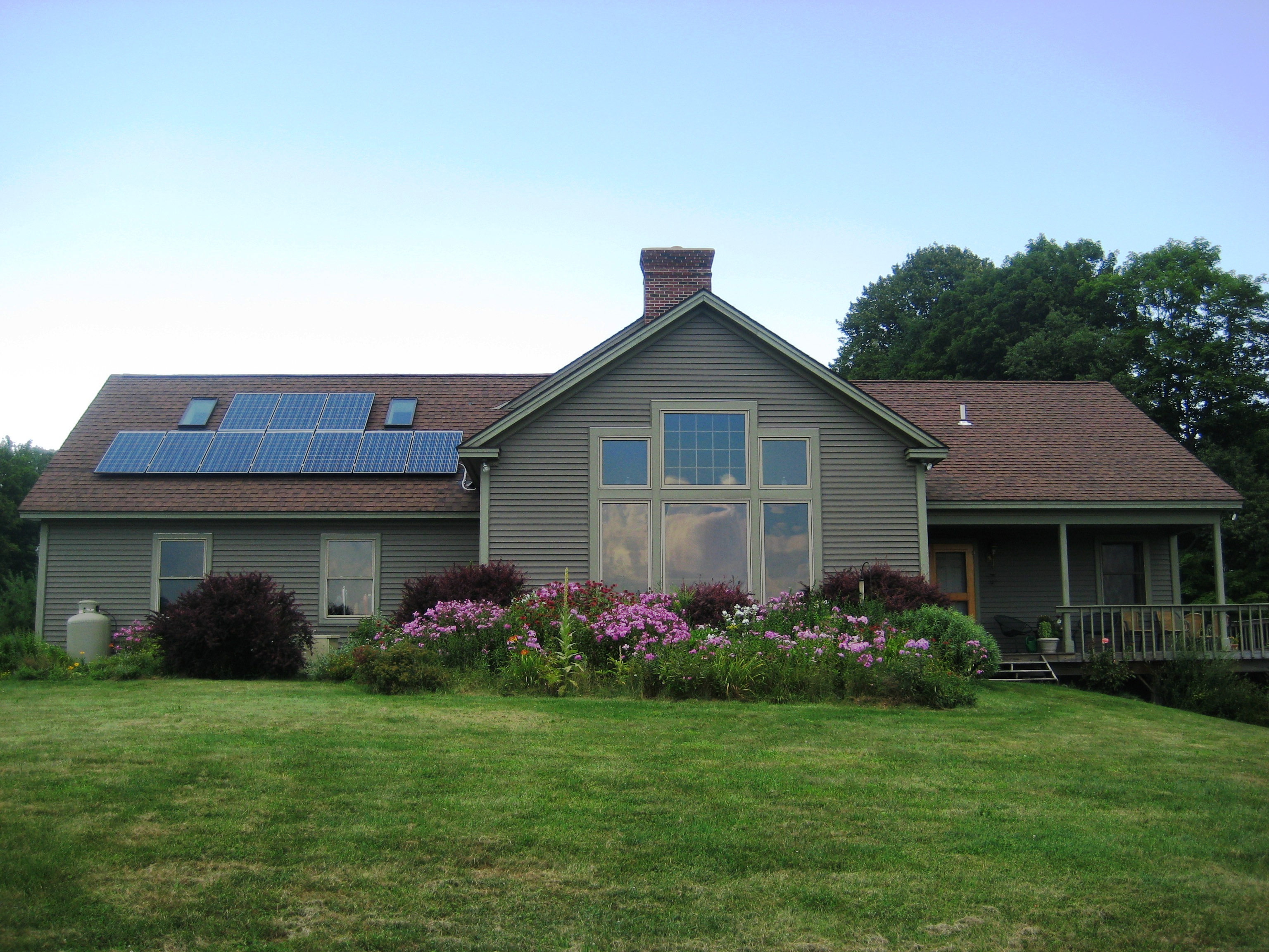 Roof mount solar in Tinmouth VT